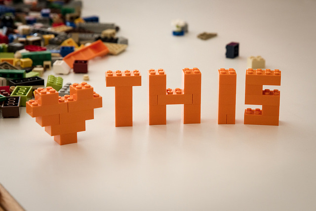 I heart this Lego